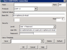 JXplorer LDAP VMware connection
